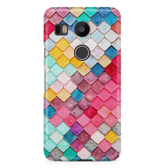 Colorful scales pattern LG Nexus 5X all side printed hard back cover by Motivate box LG Nexus 5X hard plastic printed back cover.