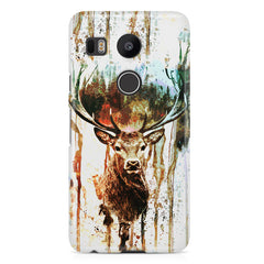 Reindeer canavs painting LG Nexus 5X printed back cover
