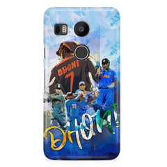 M.S Dhoni collage design LG Nexus 5X printed back cover