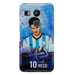 No.10 Lionel Messi Argentina LG Nexus 5X printed back cover