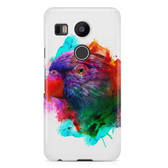 Colourful parrot design LG Nexus 5X hard plastic printed back cover.