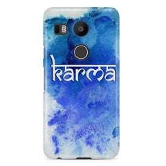 Karma LG Nexus 5X hard plastic printed back cover.