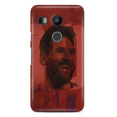 Messi jersey 10 blended design LG Nexus 5X hard plastic printed back cover.