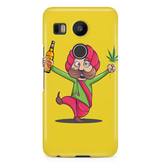 Sardar dancing with Beer and Marijuana  LG Nexus 5X hard plastic printed back cover.