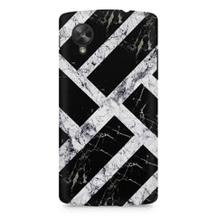 Black & white rectangular bars  LG Nexus 5 printed back cover