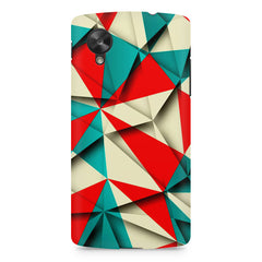 Brown and white textured  LG Nexus 5 printed back cover