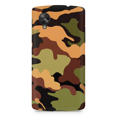 Camoflauge design LG Nexus 5 printed back cover