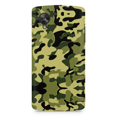 Camoflauge army color design LG Nexus 5 printed back cover