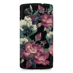 Abstract colorful flower design LG Nexus 5 printed back cover