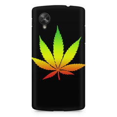 Marihuana colour contrasting design LG Nexus 5 printed back cover