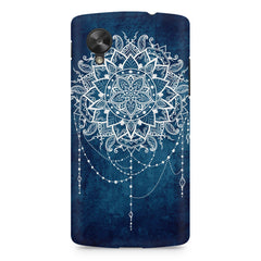 Ethnic design on blue pattern LG Nexus 5 printed back cover