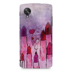 Girl with lipsticks sketch design LG Nexus 5 printed back cover