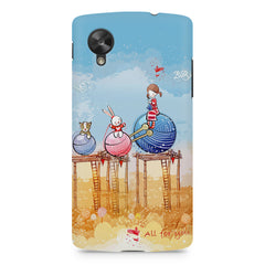 Woollen ball ride sketch design LG Nexus 5 printed back cover