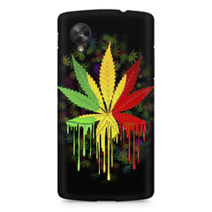 Marihuana colour contrasting pattern design LG Nexus 5 printed back cover