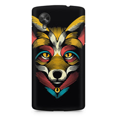 Fox sketch design LG Nexus 5 printed back cover
