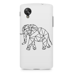 Geometrical elephant design LG Nexus 5 printed back cover