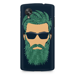 Beard guy with goggle sketch design LG Nexus 5 printed back cover