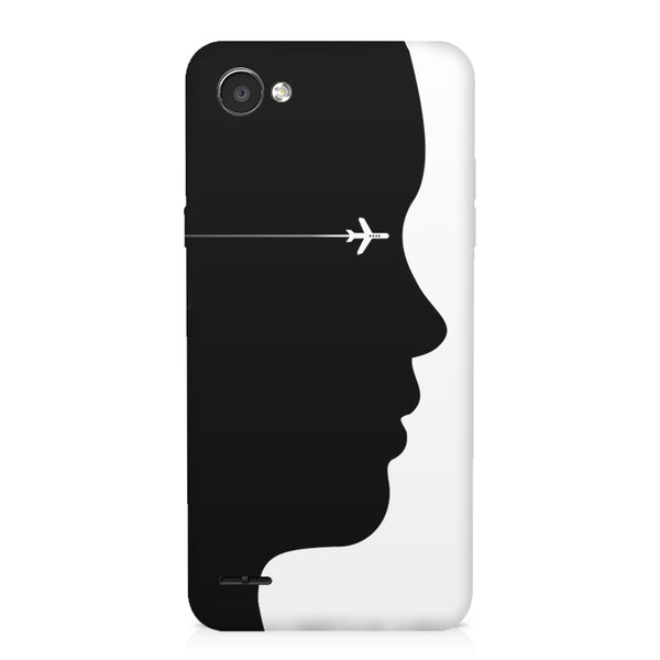 A vision to fly LG Q6  printed back cover