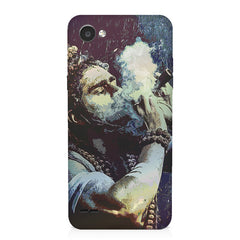 Smoking weed design LG Q6  printed back cover