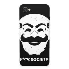Fuck society design LG Q6  printed back cover