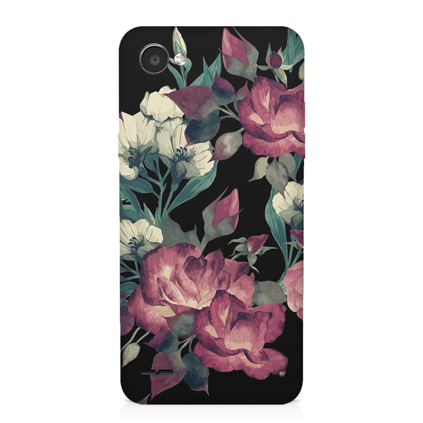 Abstract colorful flower design LG Q6  printed back cover