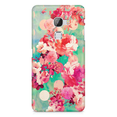 Floral  design,  LeEco Le 3 printed back cover