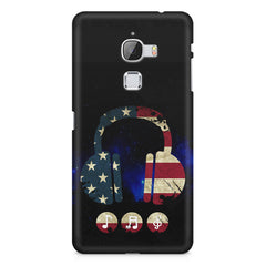 America tunes Blue sprayed  LeEco Le 3 printed back cover