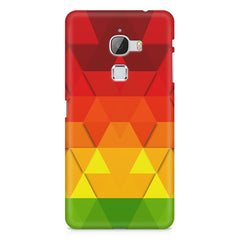 Colourful texture pattern LeEco Le 3 printed back cover