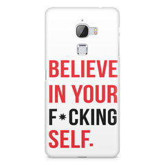 Believe in your Self LeEco Le 3 printed back cover