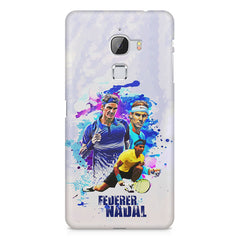 Federer and Nadal Oil Fanart design,  LeEco Le 3 printed back cover