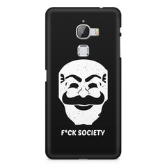 Fuck society design LeEco Le 3 printed back cover