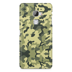 Camoflauge army color design LeEco Le 3 printed back cover