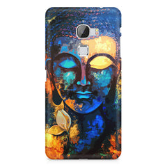 Beautiful Buddha abstract painting full of colors design  LeEco le max hard plastic printed back cover