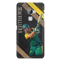 Ab De Villiers the Batting pose    LeEco le max hard plastic printed back cover
