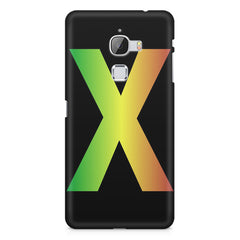 Big X contrasting colours design LeEco Le Max printed back cover