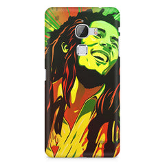 Bob Marley Multi colour fun Portrait Painting  capturing him in his happy avatar LeEco le max hard plastic printed back cover