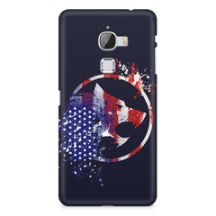 American Wolf design    LeEco le max hard plastic printed back cover