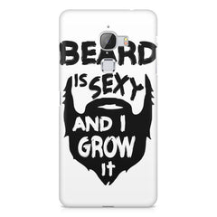 Beard is sexy & I grow it quote design    LeEco le max hard plastic printed back cover