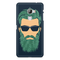 Beard guy with goggle sketch design LeEco Le Max printed back cover