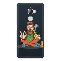 Beard guy smoking sitting design LeEco Le Max printed back cover