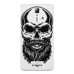 Skull with the beard  design,  Lenovo A2010 printed back cover
