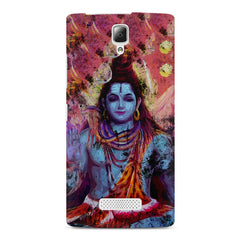 Shiva painted design Lenovo A2010 printed back cover