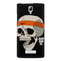 Skull Funny Just Did It !  design,  Lenovo A2010 printed back cover