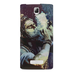 Smoking weed design Lenovo A2010 printed back cover