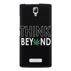 Think beyond weed design Lenovo A2010 printed back cover