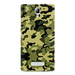 Camoflauge army color design Lenovo A2010 printed back cover