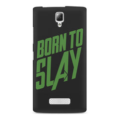 Born to Slay Design Lenovo A2010 hard plastic printed back cover
