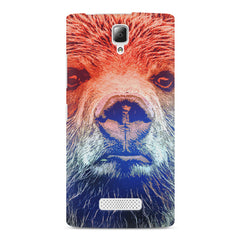 Zoomed Bear Design  Lenovo A2010 hard plastic printed back cover