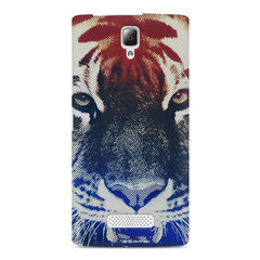 Pixel Tiger Design Lenovo A2010 hard plastic printed back cover