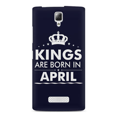 Kings are born in April design    Lenovo A2010 hard plastic printed back cover